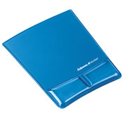 Fellowes® 9182201 Mouse Pad/Wrist Support with Microban® Protection, Blue Gel - Pkg Qty 4