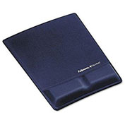 Fellowes® Mouse Pad/Wrist Support With Microban® Protection, Saphire - Pkg Qty 4