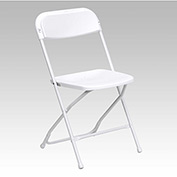 Folding Chair - Plastic - White - Pkg Qty 10
