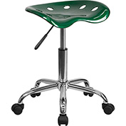 Desk Stool - Backless - Plastic - Green