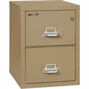 "Fireking Fireproof 2 Drawer Vertical File Cabinet - Letter Size 17-11/16""W x 25""D x 28""H - Sand"
