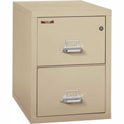 "Fireking Fireproof 2 Drawer Vertical File Cabinet - Letter Size 18""W x 31-1/2""D x 28""H - Putty"