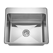 "Franke LBS7314P-1/1, Commercial Sink 3.5"" Waste 1 Hole"