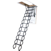 FAKRO Metal Scissor Attic Ladder W/ Heat Insulated Hatch - 66820