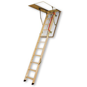 FAKRO Wooden, Insulated Fire Rated Attic Ladder - 30 Minute Resistance - 66832