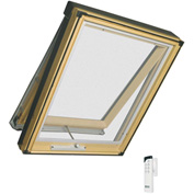 "Fakro 68958 Electric Skylight FVE-306, 50""Lx25""Wx10""H, LAM Glass, Wood"