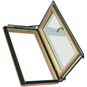 "Fakro 69107 Egress Roof Window FWU-R 24/38 Right Opening, 40""Lx25""Wx10""H, LAM Glass, Wood"