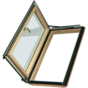 "Fakro 69157 Egress Roof Window FWU-L 24/38 Left Opening, 40""Lx25""Wx10""H, LAM Glass, Wood"
