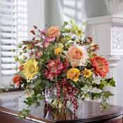 OfficeScapesDirect Mixed Flower & Berry Silk Flower Arrangement