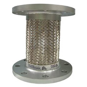 "SS Hose And Braid w/ 150# Plate Steel Flange 9"" X 4"""