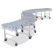 NestaFlex® 37618012PAL Expandable Flexible Conveyor - Poly Skate Wheels - 376 Lb./ft.