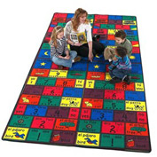 Children Educational Rugs Spanish AMIGOS 12X12