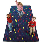 Children's Rugs FOOTPRINTS 3X6