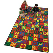 Children Educational Rugs FLOORS THAT TEACH 8FT Round