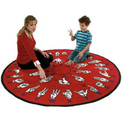 Children Educational Rugs HANDS THAT TEACH 6FT Round