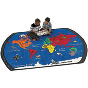 Children Educational Rugs MAPS THAT TEACH 6X9
