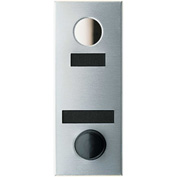 Auth Door Chime w/1 Way Viewing Mirror, Apartment ID & Name Plate - Anodized Silver