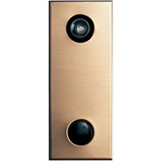 Auth Door Chime w/1 Way Wide Angle Viewer - Bronze