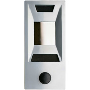 Auth Door Chime w/Recessed, Deluxe 1 Way Viewing Mirror, Apt. ID & Name Plate - Silver Powder Coat