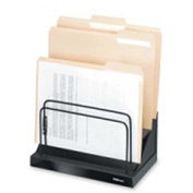 "Fellowes Step File w/ Six 1"" Compartments Black"