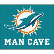 "Fan Mats NFL - Miami Dolphins Man Cave Tailgater Rug 60"" X 72"" - 14327"