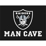 "Fan Mats NFL - Oakland Raiders Man Cave All-Star Mat 34"" X 45"" - 14348"