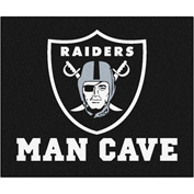 "Fan Mats NFL - Oakland Raiders Man Cave Tailgater Rug 60"" X 72"" - 14351"