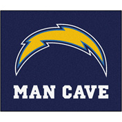 """Fan Mats NFL - San Diego Chargers Man Cave Tailgater Rug 60"""" X 72"""" - 14363"""