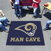 "Fan Mats NFL - Los Angeles Rams Man Cave Tailgater Rug 60"" X 72"" - 14375"