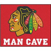 "Fan Mats NHL - Chicago Blackhawks Man Cave Tailgater Rug 60"" X 72"" - 14412"