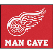 "Fan Mats NHL - Detroit Red Wings Man Cave Tailgater Rug 60"" X 72"" - 14428"