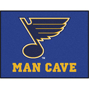 "Fan Mats NHL - St. Louis Blues Man Cave All-Star Mat 34"" X 45"" - 14485"