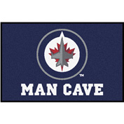 "Fan Mats NHL - Winnipeg Jets Man Cave Starter Rug 19"" X 30"" - 14506"