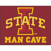 "Fan Mats Iowa State University Man Cave All-Star Mat 34"" X 45"" - 14557"