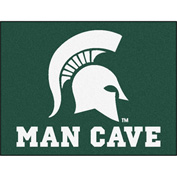 "Fan Mats Michigan State University Man Cave All-Star Mat 34"" X 45"" - 14569"