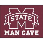 "Fan Mats Mississippi State University Man Cave All-Star Mat 34"" X 45"" - 14573"