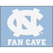 "Fan Mats University Of North Carolina - Chapel Hill Fan Cave All-Star Mat 34"" X 45"" - 14621"