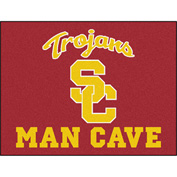 "Fan Mats Univ Of Southern California Man Cave All-Star Mat 34"" X 45"" - 14625"