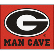 "Fan Mats University Of Georgia Man Cave Tailgater Rug 60"" X 72"" - 14638"