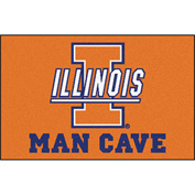 "Fan Mats University Of Illinois Man Cave Starter Rug 19"" X 30"" - 14640"