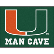 "Fan Mats University Of Miami Man Cave All-Star Mat 34"" X 45"" - 14665"