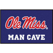 "Fan Mats University Of Mississippi - Ole Miss Man Cave Starter Rug 19"" X 30"" - 14672"
