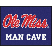 "Fan Mats University Of Mississippi - Ole Miss Man Cave All-Star Mat 34"" X 45"" - 14673"