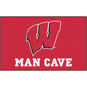 "Fan Mats University Of Wisconsin Man Cave Ulti-Mat Rug 60"" X 96"" - 14711"