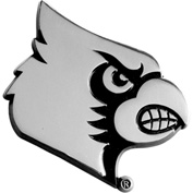 "University of Louisville - Heavy Duty Chrome 3-D Emblem 2-8/9"" x 3-1/5"" - 14821"