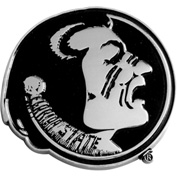 "Florida State University - Heavy Duty Chrome 3-D Emblem 3"" x 3-1/5"" - 14860"