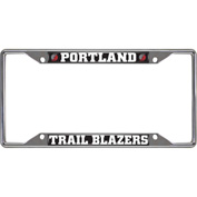 NBA Portland Trail Blazers Chrome License Plate Frame 6-1/4