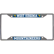 West Virginia University Chrome License Plate Frame 6-1/4