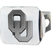 "University of Oklahoma - 3-D Chrome Hitch Cover 3-3/8"" x 4"" - 15067"