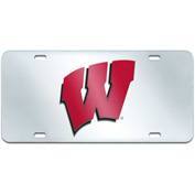 "Fan Mats Wisconsin License Plate Inlaid 6"" X 12"" - 15090"